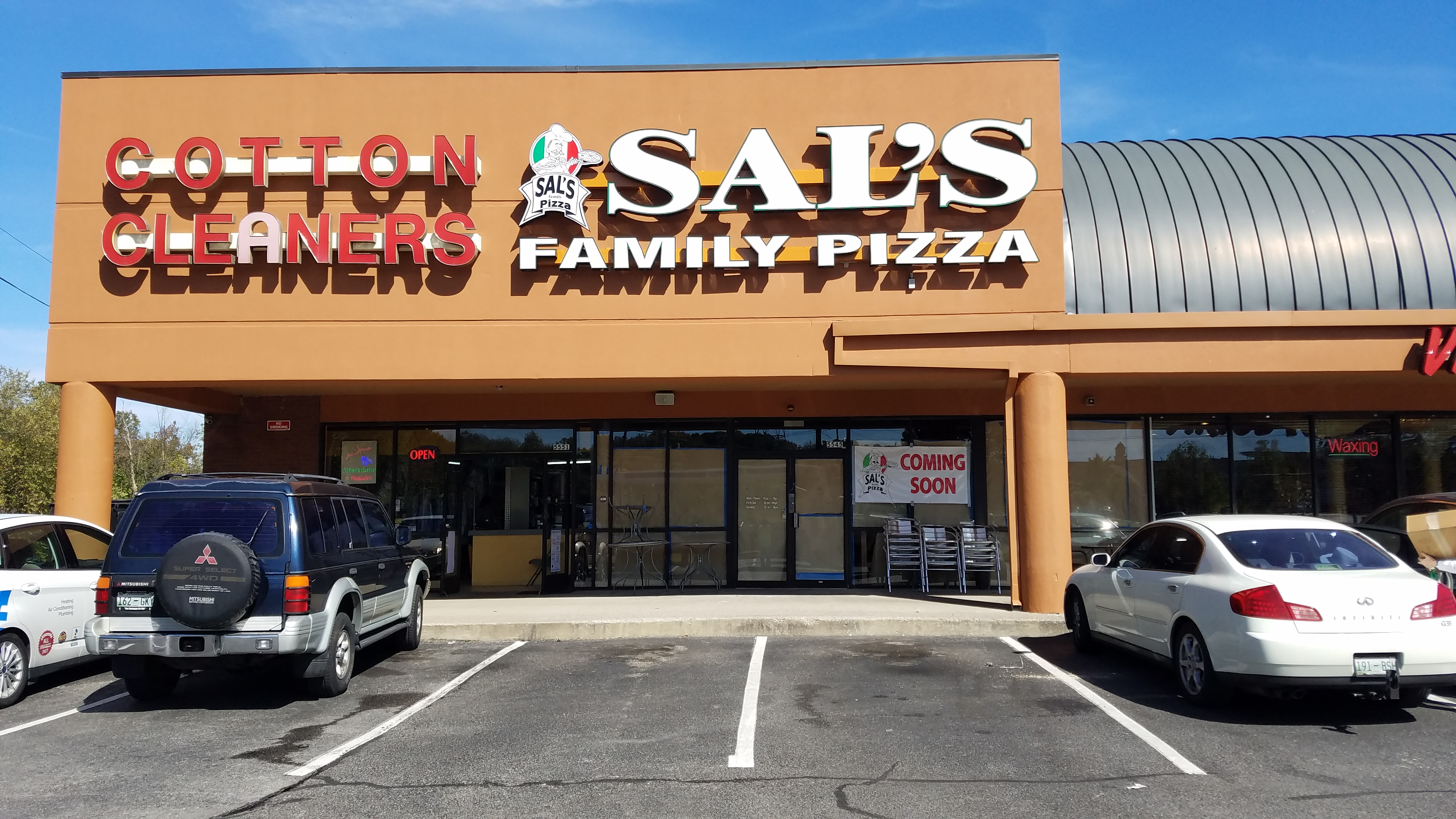 Sal's Pizza, Nipper's Corner, Nashville, Channel Letters by Adams Signs & Awnings