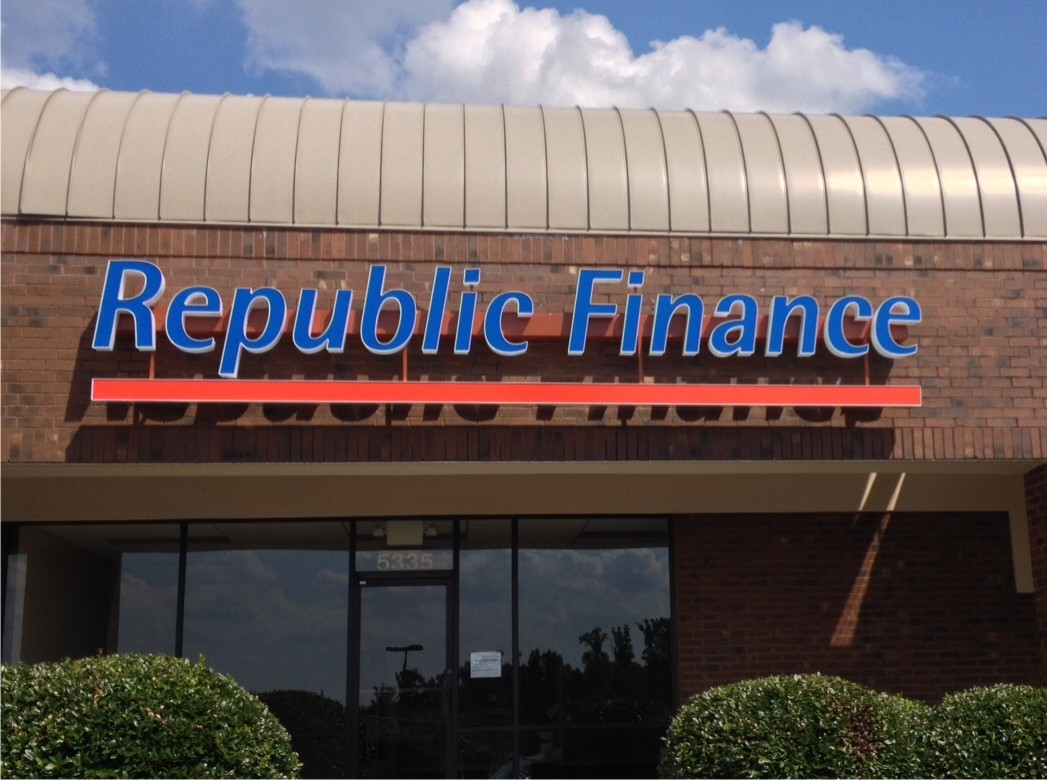 Republic Finance Channel Letters by Adams Signs & Awnings