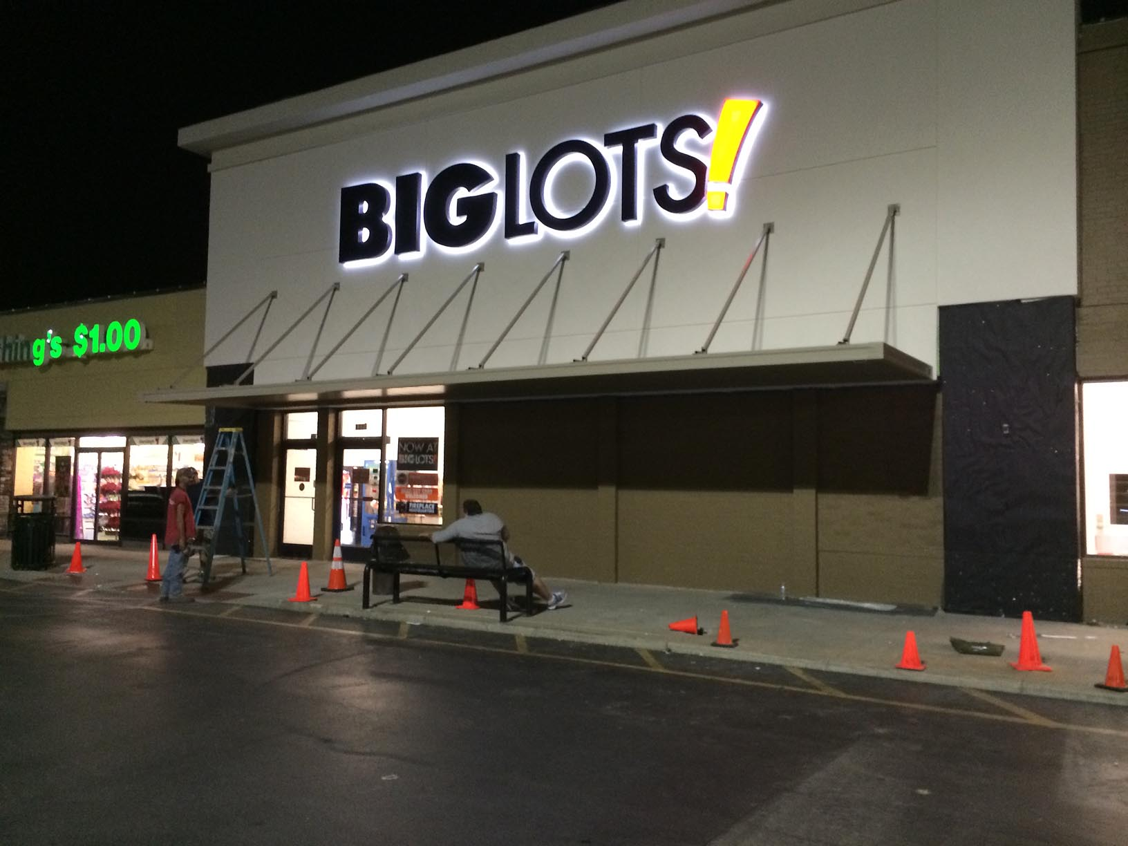 Big Lots Awning by Adams Signs & Awnings