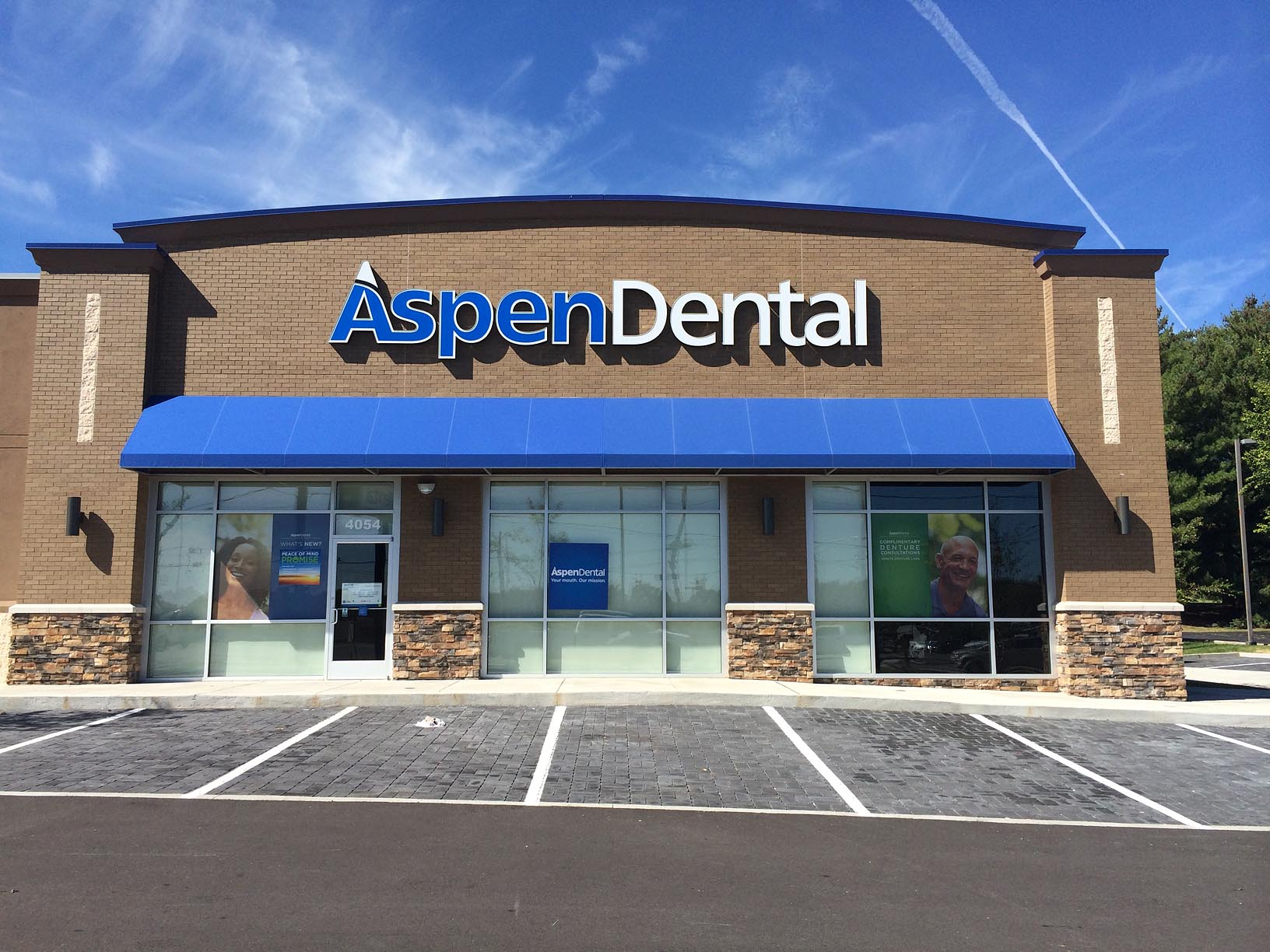Awning at Aspen Dental by Adams Signs & Awnings