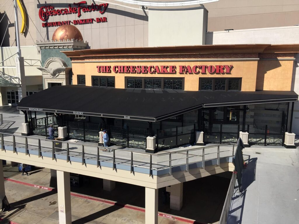 Canopy/Awnings at Cheesecake Factory Green Hills by Adams Signs & Awnings